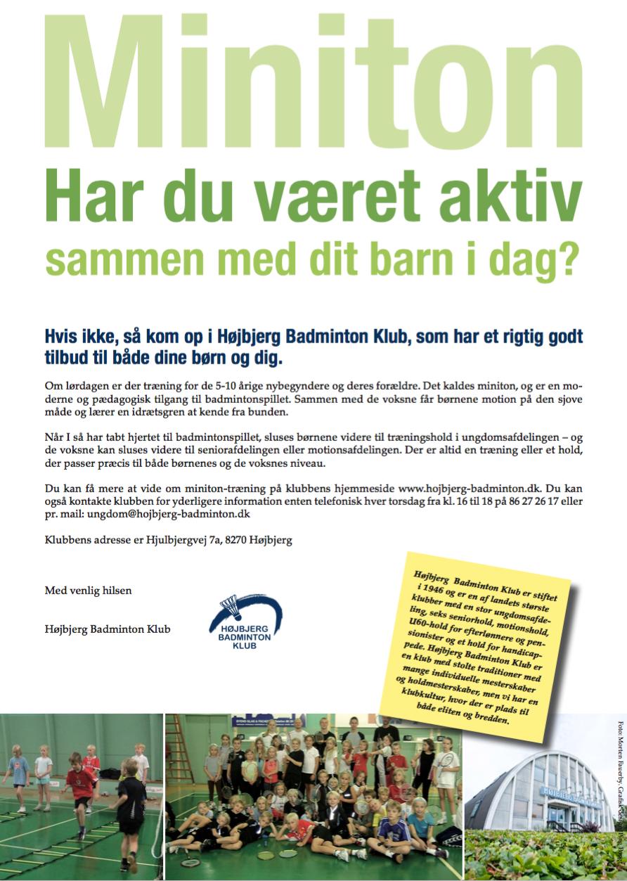 Miniton - Højbjerg badminton Klub